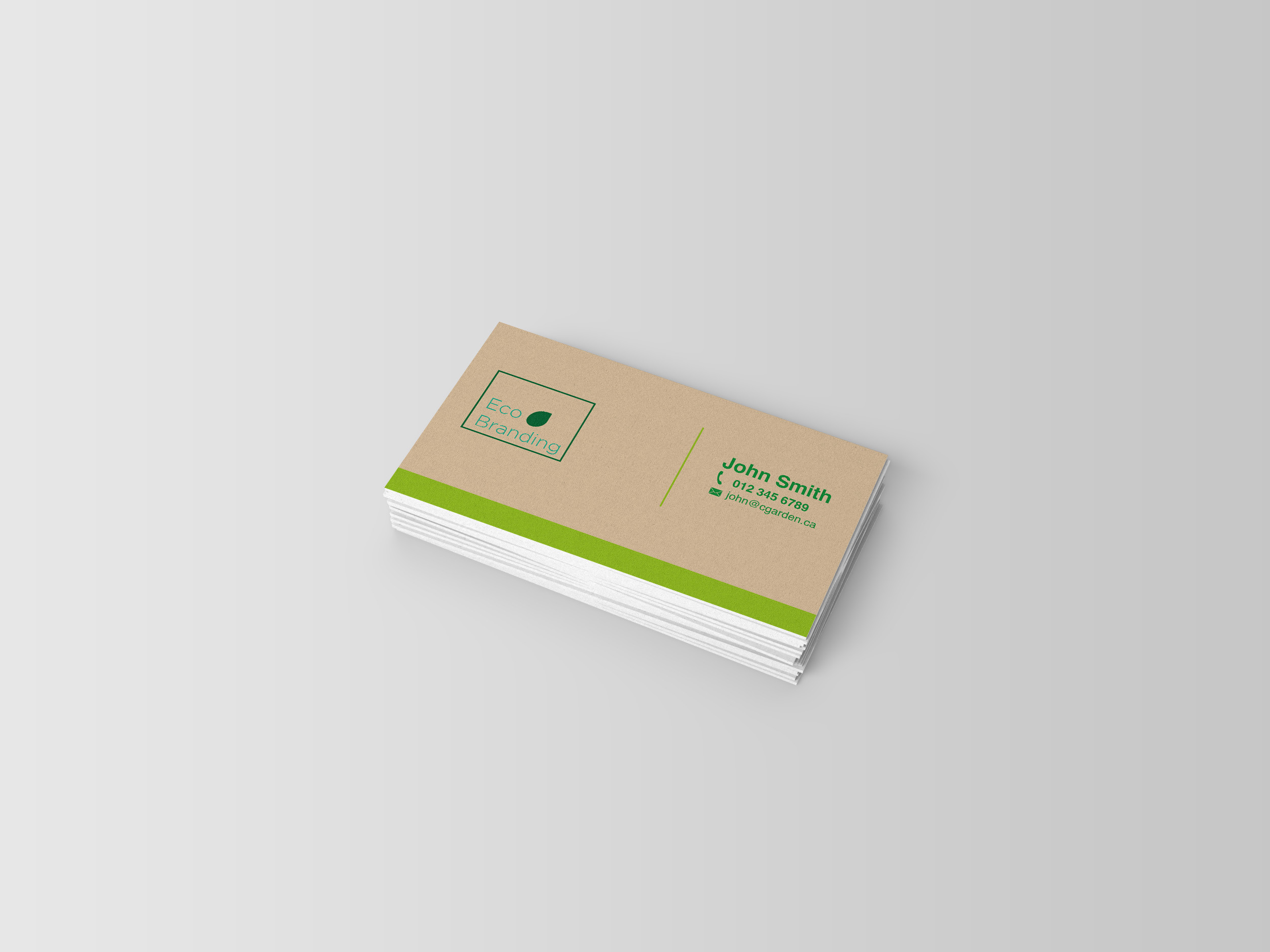 100% Recycled Business Cards - 80lb Uncoated Cover