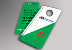 Door Hangers - 14pt Gloss Cover AQ